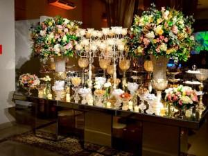 Mesa de Doces Festa de Casamento Estilo Clássico Espaço Milla Moreno