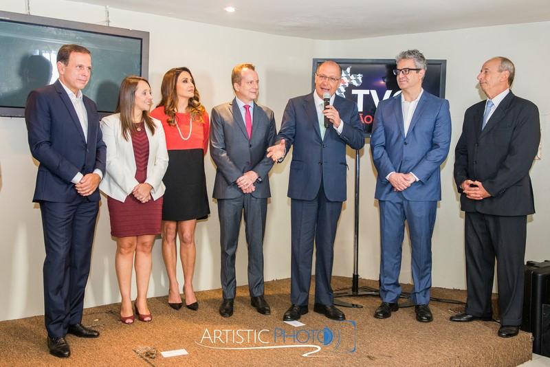 Inauguração do canal TV Cidade de São Paulo João Dória e Geraldo Alckmin