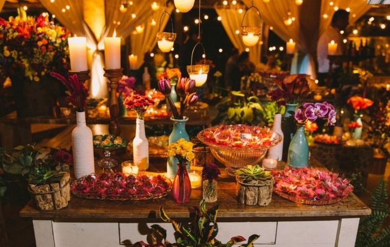 tendências para mesa de doces para casamento