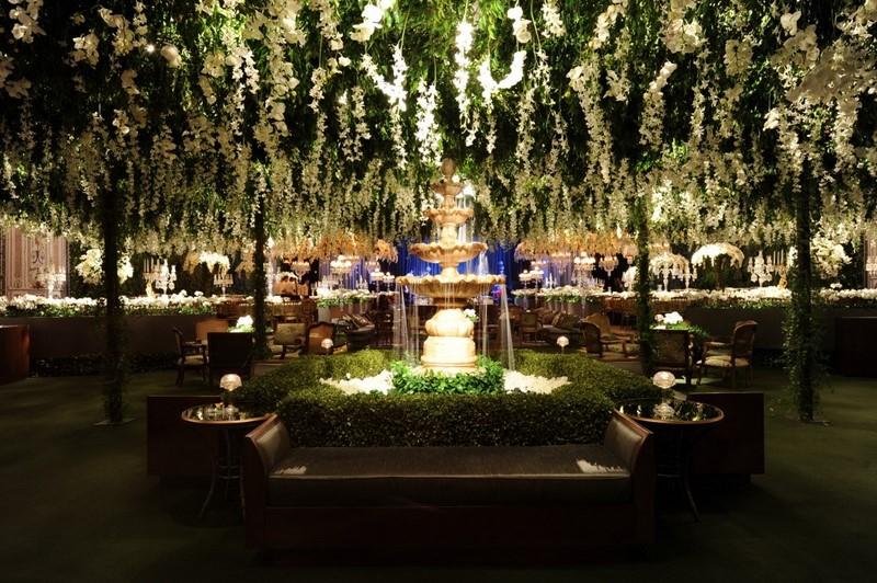 decoracao-com-folhagens-verdes-para-casamento