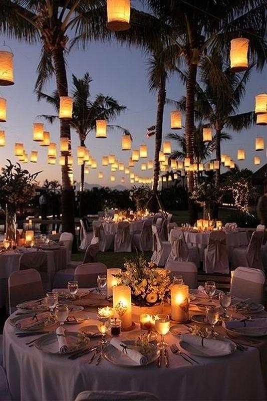lanternas para iluminação de casamento