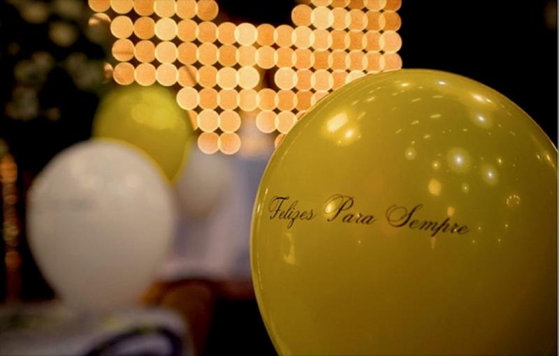 decoração com balões para bodas de prata