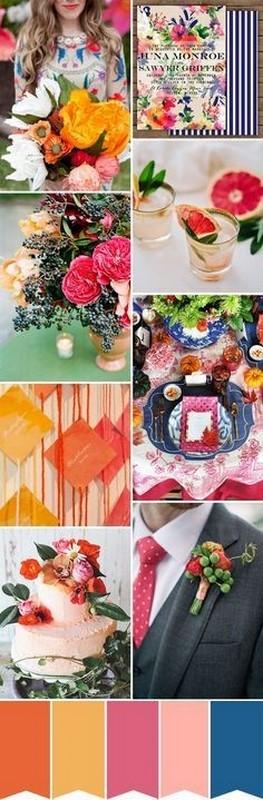 paleta de cores para casamento estilo boho