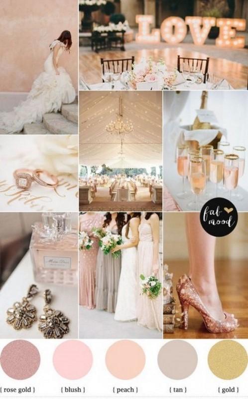 paleta de cores para casamento estilo romantico