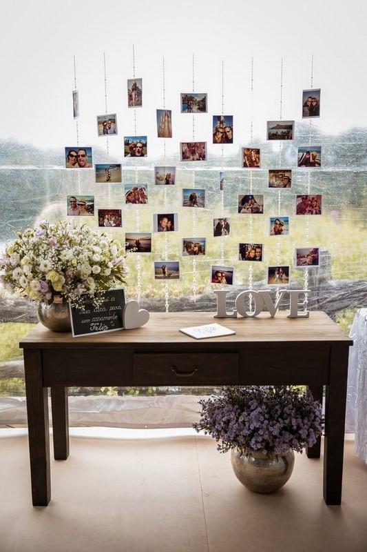 decoração com fotografia para bodas de prata