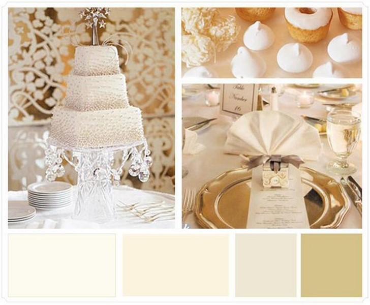 paleta de cores para casamento estilo clássico
