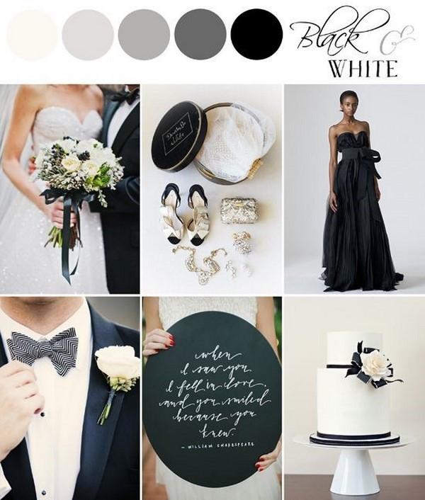 paleta de cores para casamento estilo moderno