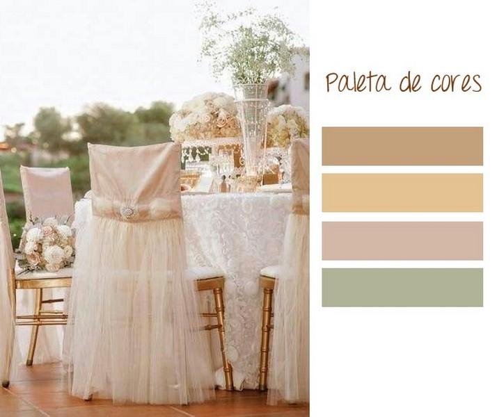 paleta de cores para casamento estilo tradicional