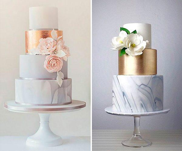 bolo decorado marmorizado festa de 15 anos