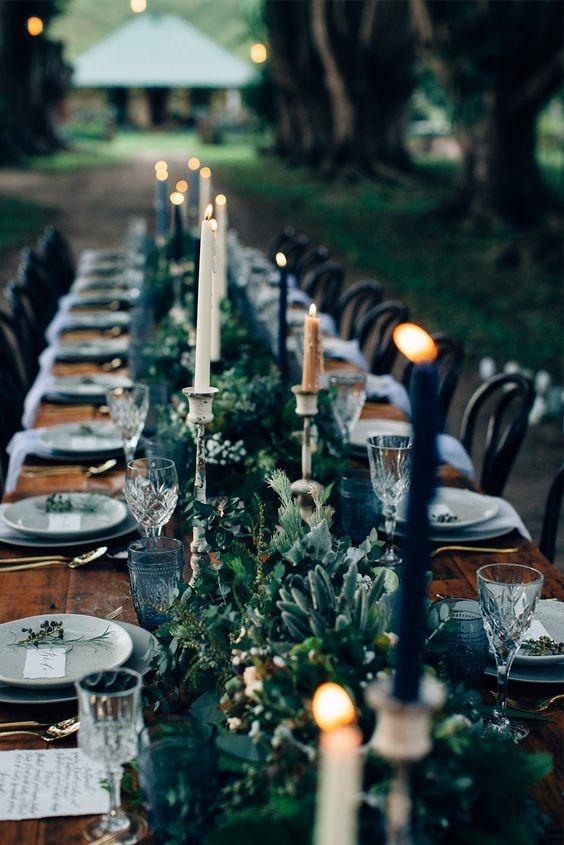 mesa comunitária para casamento tendência 2018