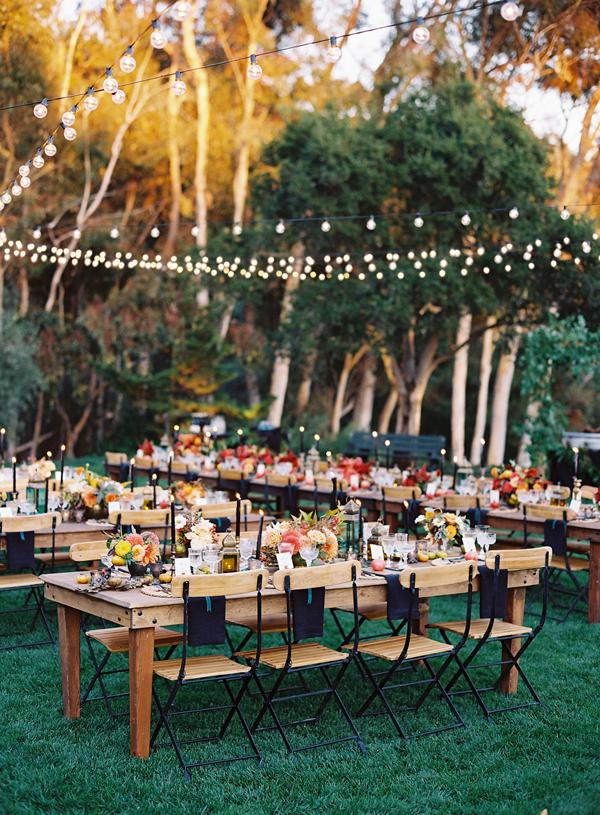 mesa comunitária para casamento