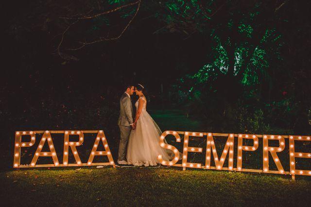 letreiros luminosos para casamento