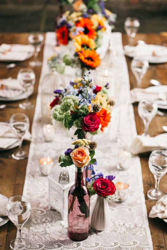 tendência para 2018 mesa comunitária para casamento