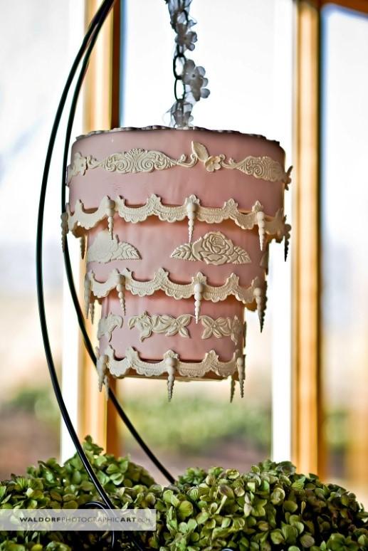bolo suspenso haging cake festa de casamento