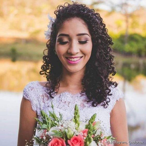 cabelo meio preso para noivas