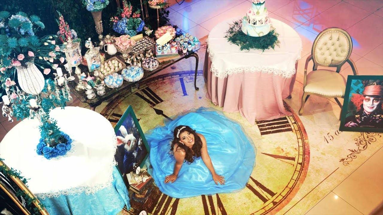 decoração tema filme alice no país das maravilhas festa de 15 anos