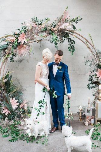 arcos de guirlandas tendência decoração casamento