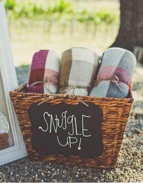 decoração aconchegante casamento no outono