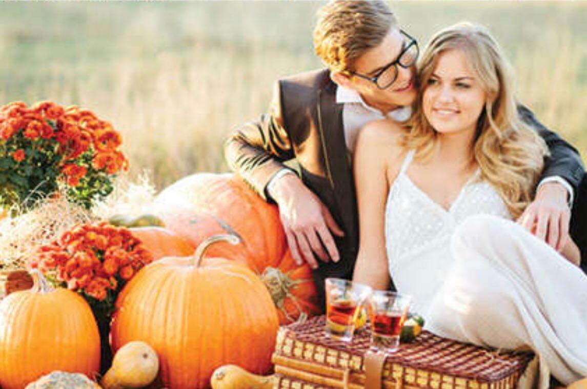 decoração casamento no outono