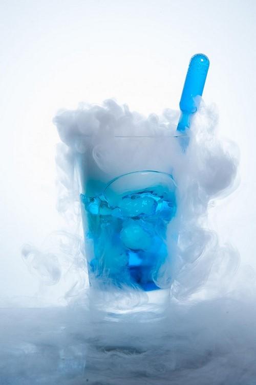 drink lagoa azul com gelo seco festa de 15 anos