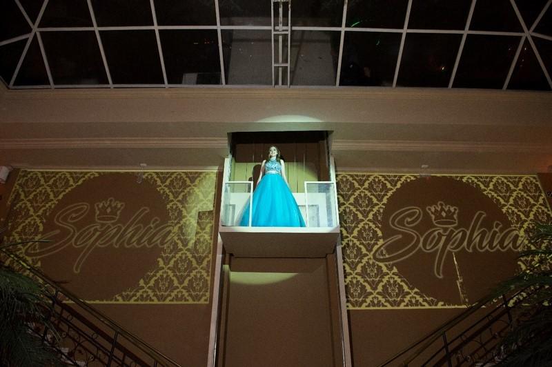 espaço para casamento com elevador panorâmico