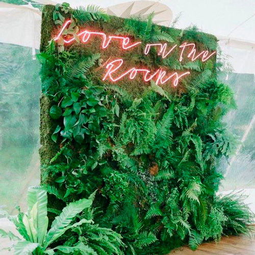 backdrop orgânico para casamento