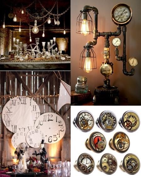decoração festa de 15 anos estilo steampunk