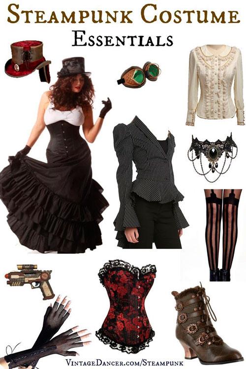 trajes para festa de 15 anos estilo steampunk