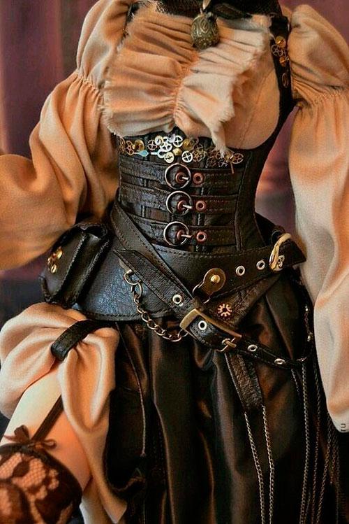 vestidos para festa de 15 anos estilo steampunk