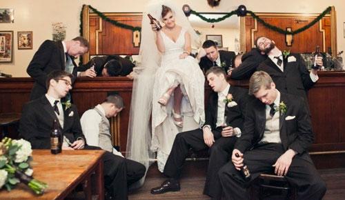 fotos criativas com padrinhos de casamento