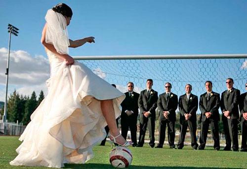 fotos com padrinhos tema futebol