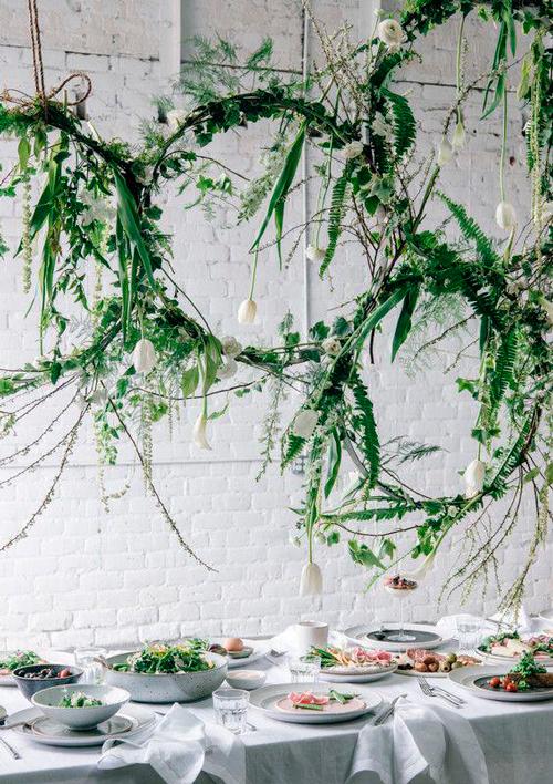 hoop bouquet decoração