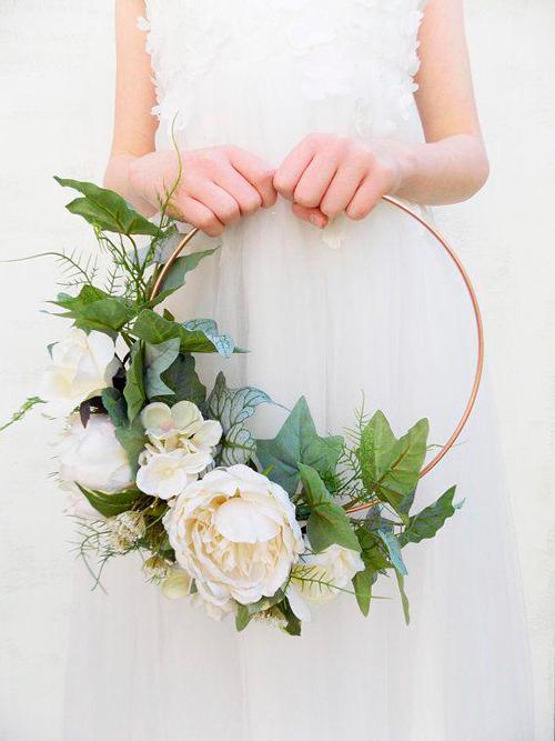 hoop bouquet noiva casamento