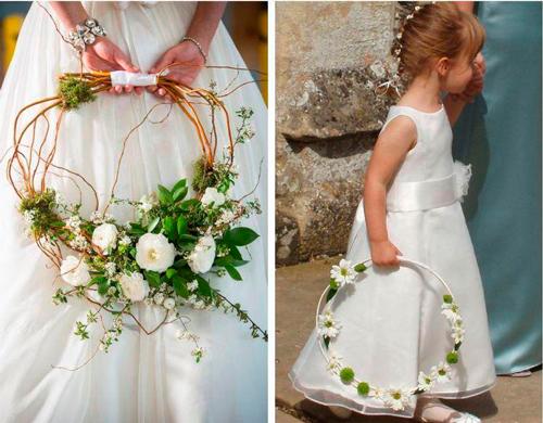 daminhas hoop bouquet casamento