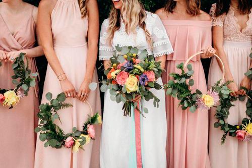 hoop bouquet noiva