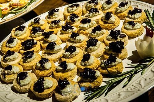 finger food opção para servir no coquetel de casamento
