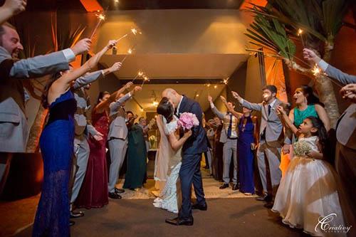 casamento com cerimônia no espaço, local