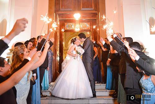 casar na igreja ou cerimônia no salão, espaço