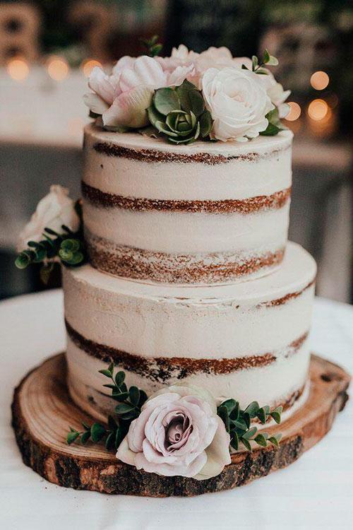 bolo casamento estilo rústico