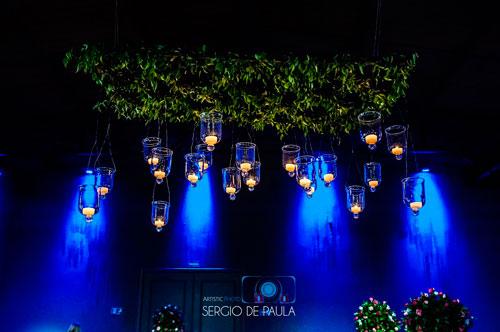 iluminação casamento estilo rústico