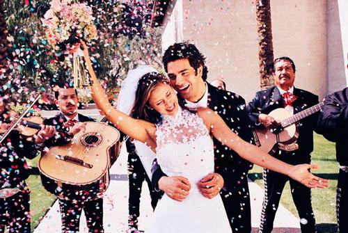 entrada da noiva com banda