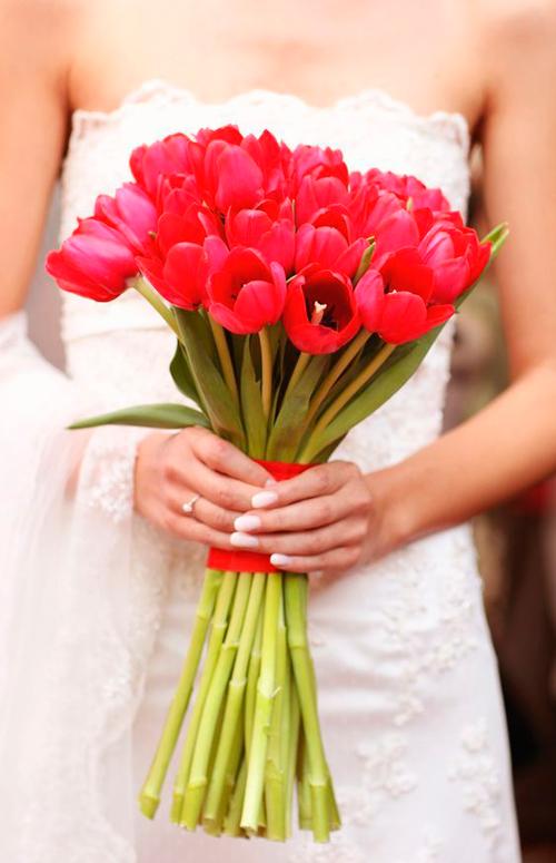 buque de noiva para inverno tulipa