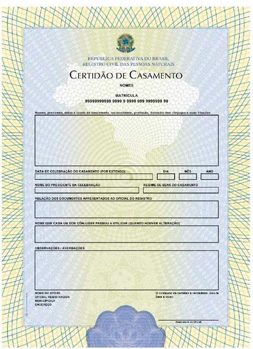 documentos casamento cartório