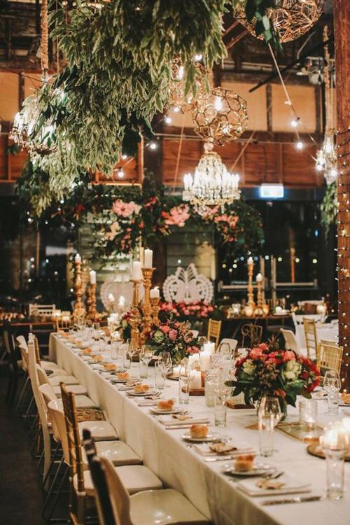 decoração casamento estilo industrial