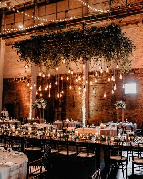 decoração casamento festa industrial