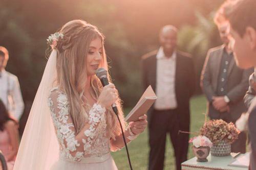 noiva votos de casamento