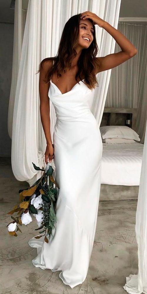 vestido de noiva minimalista, simples