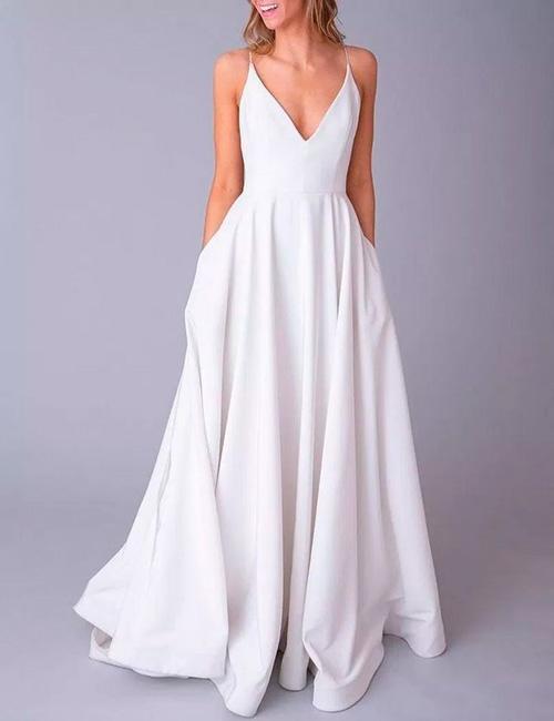 vestido de noiva simples minimalista