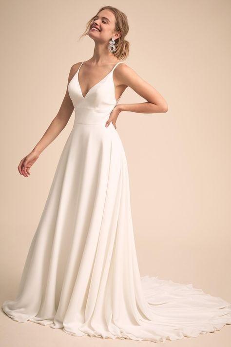 vestido de noiva clean, simples + acessórios
