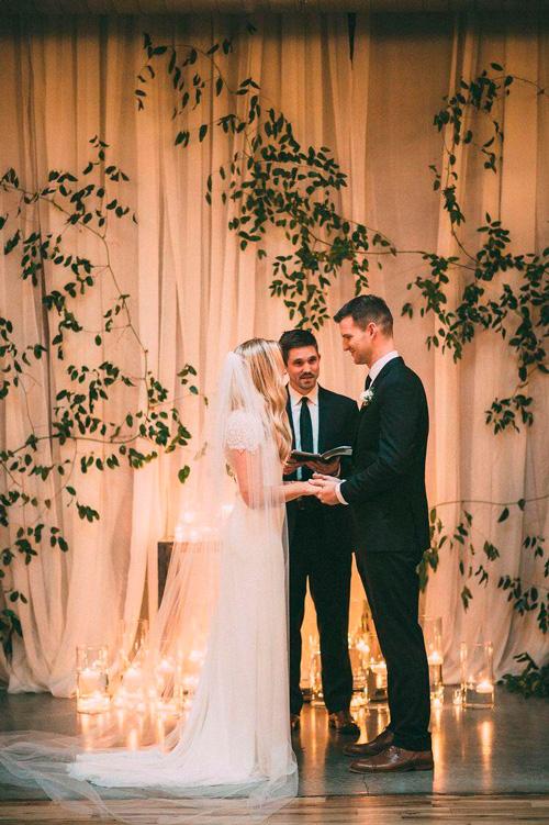 decoração clean casamento minimalista cerimônia